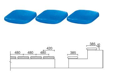 KAD-K001 无背中空塑料椅