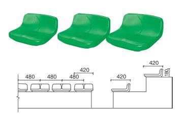 KAD-K002 低靠背中空塑料椅