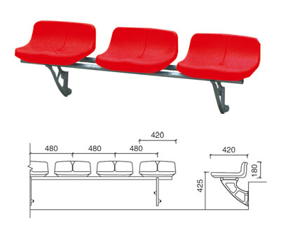 KAD-K003 悬挂式中空塑料椅